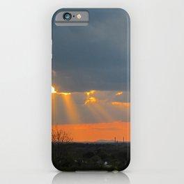 God Rays Sunset (2) iPhone Case