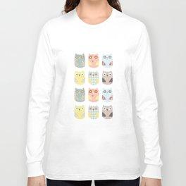 owls pattern Long Sleeve T-shirt
