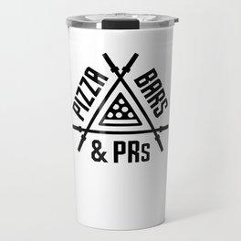 Pizza, Bars and PRs Fitness Triangle v2 Travel Mug