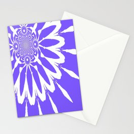 The Modern Flower Periwinkle Lavender Stationery Cards