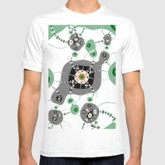 dropways 2 SMALL White Mens Fitted Tee