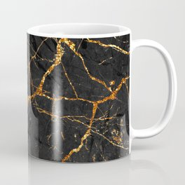 Black Malachite Marble With Gold Veins Coffee Mug