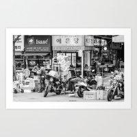 seoul Art Prints featuring Everyday Seoul by Jennifer Stinson