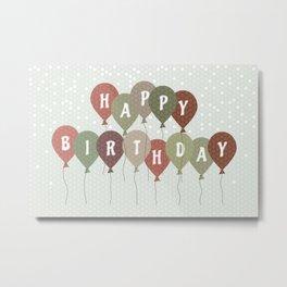 Vintage Birthday card Metal Print