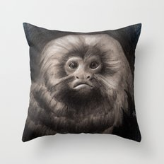 Golden Lion Tamarin Throw Pillow