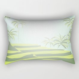 Tegalalang Rice Terraces, Bali, Indonesia Rectangular Pillow