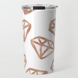 Rose gold diamond print Travel Mug