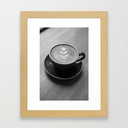 Cappuccino Heart Framed Art Print