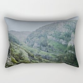 Cheddar Gorge in the Rain Rectangular Pillow