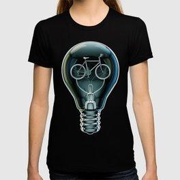 Dark Bicycle Bulb T-shirt