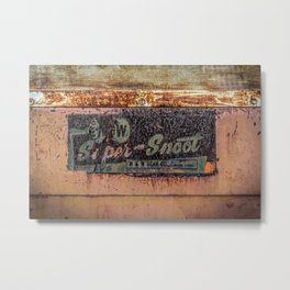 M & W Gear Company Super Snoot Rusted Name Plate Metal Print