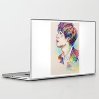 shinee Laptop & iPad Skins featuring Colorful SHINee Taemin  by sophillustration