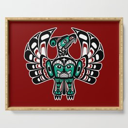 Northwest Pacific coast Haida art Thunderbird Serving Tray
