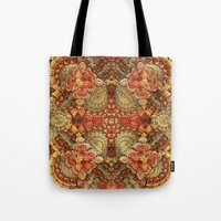 turkey Tote Bags featuring Turkey Feathers by Lyle Hatch