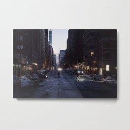 Winter dusk in New York Metal Print