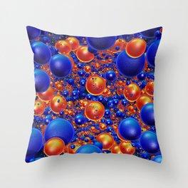 Shiny 3D balls Throw Pillow