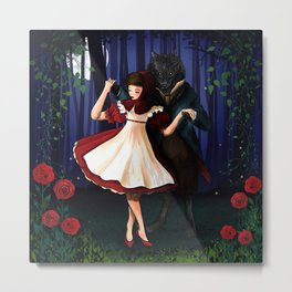 A Dangerous Dance, Red Hood And The Wolf Metal Print