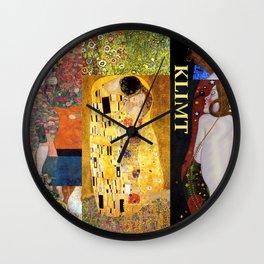 Klimt Collage Wall Clock