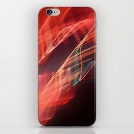 Energetic abstract light iPhone Skin