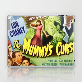 The Mummy's curse, vintage horror movie poster Laptop & iPad Skin