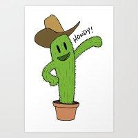 Cactus Rodeo Art Print