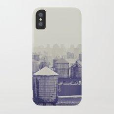 foggy memories of nyc... iPhone X Slim Case