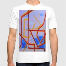Lines MEDIUM Mens Fitted Tee White