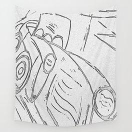 funny car Wall Tapestry