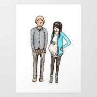 Pregnant Art Print