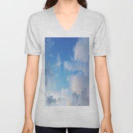 Glitch in the Sky Unisex V-Neck