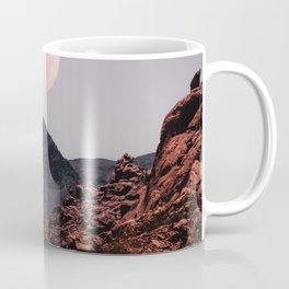 Road Red Moon Coffee Mug