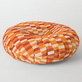 """""""My Orange Crush"""" Op art Floor Pillow"""