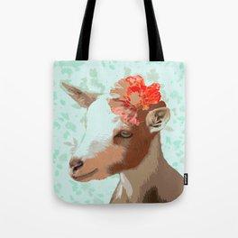 Flower Goat Tote Bag