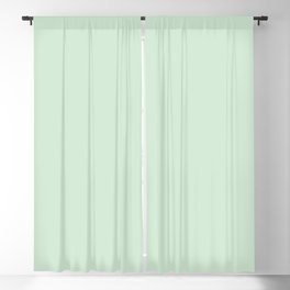 Pastel Pale Spring Green Solid Color Parable to Minty Fresh 6002-7A by Valspar Blackout Curtain