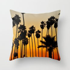 Palms to the Waning Day Throw Pillow