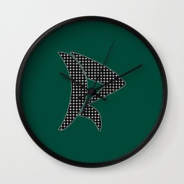 Gingham Pattern Wall Clock