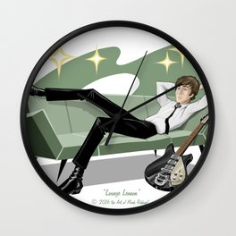 Lounging John Wall Clock