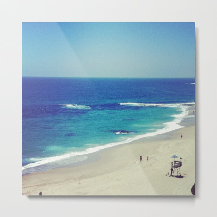 The Big Blue Metal Print
