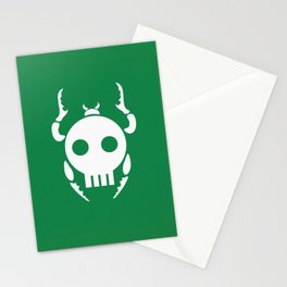 Skull Bugs Stationery Cards