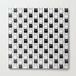A Chess of Cats Metal Print