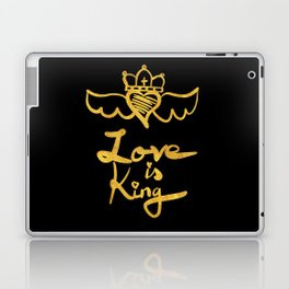 Love is king / black and gold Laptop & iPad Skin