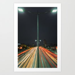 Car Lights Art Print