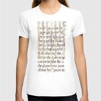 calligraphy T-shirts featuring Calligraphy Gothic by Cami Landia