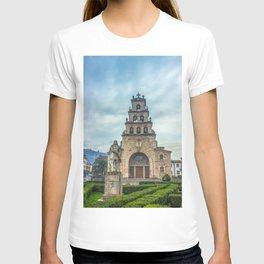 Statue of the King Pelayo and Santa Cruz chapel T-shirt