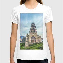 Statue of the King Pelayo and Santa Cruz chapel T-shirt