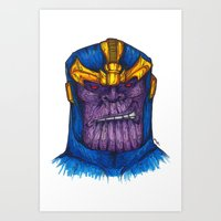 thanos Art Prints featuring Thanos by AgrovatedArt