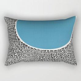 Abstract Blue Lake Rectangular Pillow