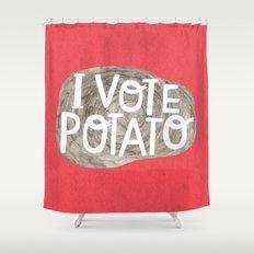 I VOTE POTATO Shower Curtain