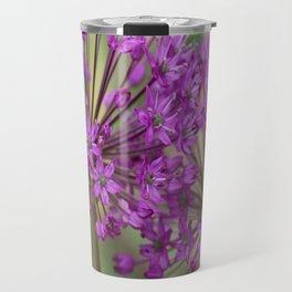 Purple Allium Twins Travel Mug