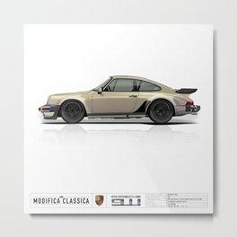 Porsche 1985 911 M491 White Gold Metallic Metal Print